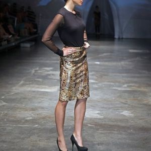 ALBERTA FERRETTI  Silk Animal Print Mini Skirt